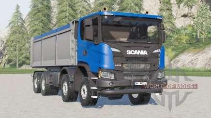 Scania G 370 XT 8x8 tipper 2017 для Farming Simulator 2017