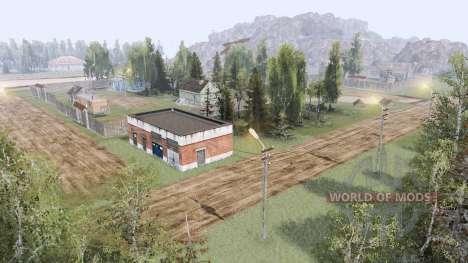 Деревня в горах v3.0 для Spin Tires