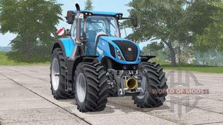 New Holland T7 series〡selectable engine power для Farming Simulator 2017