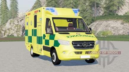 Mercedes-Benz Sprinter UK Ambulance для Farming Simulator 2017
