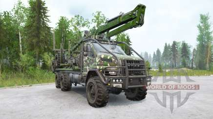 Урал Next (4320-74Е5) лесовоз с манипулятором для MudRunner