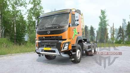 Volvo FMX 500 6x6 tractor Day Cab v2.0 для MudRunner