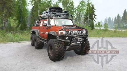 Hummer H2 SUƮ 6x6 для MudRunner