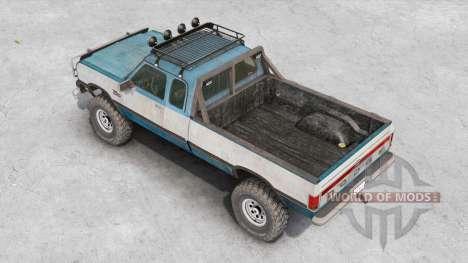 Dodge Power Ram 250 Club Cab 1990 v1.2 для Spin Tires