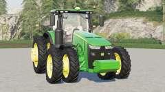 John Deere 8R series〡real wheels configurations для Farming Simulator 2017