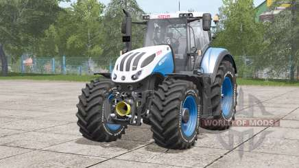 Steyr Terrus 6000 CVT〡tire inscription in white для Farming Simulator 2017