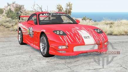 Mazda RX-7 Fast & Furious v1.1 для BeamNG Drive