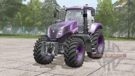 New Holland T8 series〡color configurations для Farming Simulator 2017