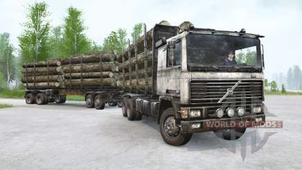 Volvo F12 Timber Truck для MudRunner