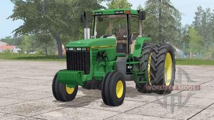 John Deere 8400〡wheels selection для Farming Simulator 2017