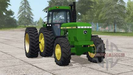 John Deere 4050 series〡engine selection для Farming Simulator 2017