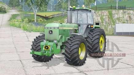 John Deere 4755〡dust from the wheels для Farming Simulator 2015
