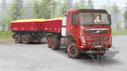 Volvo FM 460 6x6 rigid Day Cab 2010 для Spin Tires
