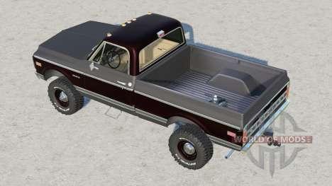 Chevrolet K30 Cheyenne Fleetside 1972 для Farming Simulator 2017