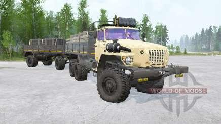 Урал-4320 6x6〡различные анимации для MudRunner
