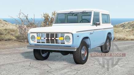 Ford Bronco Wagon 1975 для BeamNG Drive